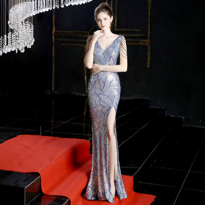 #Sequin party dress long party Mermaid party