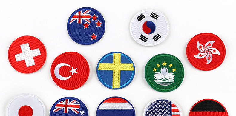 Embroidered round cloth stickers clothing shoes and hats accessories NHDX127674