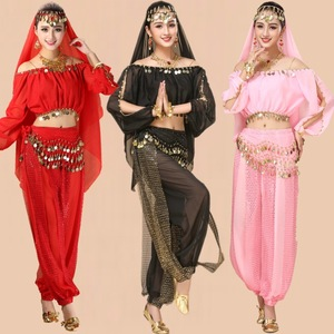 Belly dance costume adult Indian dance performance clothing dance practice clothing performance clothing long-sleeved pants suit women