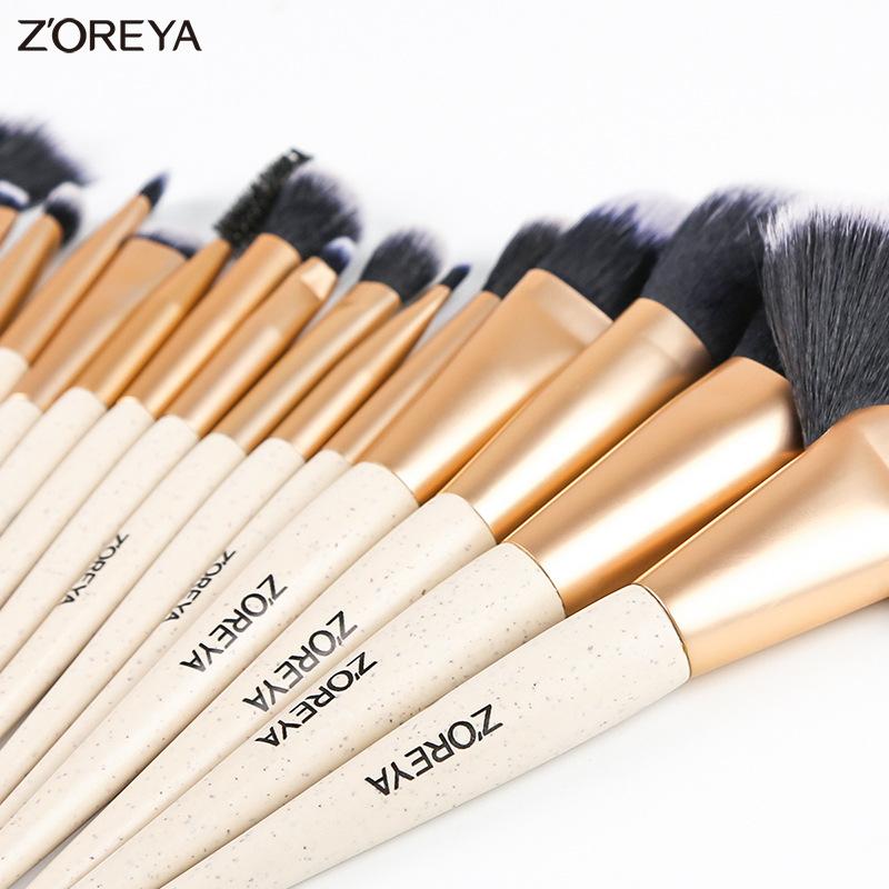 gift makeup brush tool set black man-made fiber black wooden handle makeup brush set wholesale nihaojewelry NHAY222488
