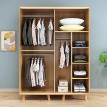 移门衣柜小户型板式衣橱卧室推拉门实木质大衣柜子现代简约经济型