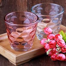 雨点杯两件套 耐热玻璃水杯 炫彩透明办公室茶杯家用随手杯礼品杯