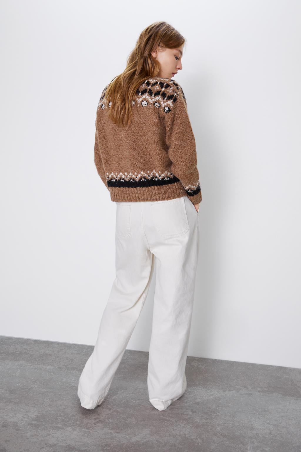 Printed jacket fashion temperament knit cardigan NHAM158473