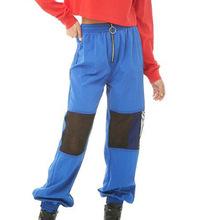 2019夏季新品跨境女装 时尚潮流性?#22411;?#32433;拉链拼接女运动长裤