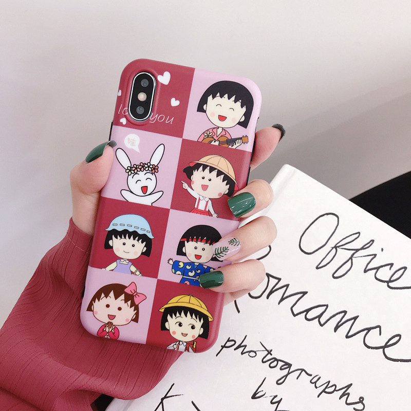Cartoon small ball illustration Apple Xsmax mobile phone shell 7plus matte all-inclusive for iPhone XR couple NHDV172526