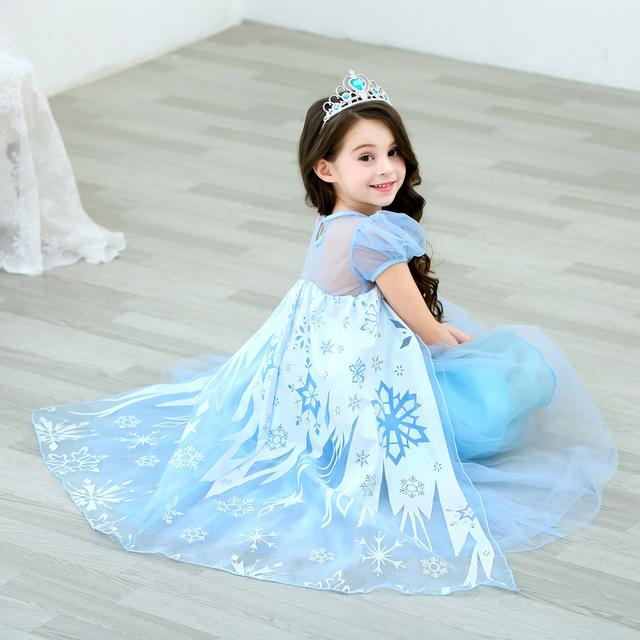 โรแมนติก Aisha สาวชุดเจ้าหญิงหิมะแต่งตัวฤดูร้อนสำหรับเด็กชุดสาวสไตล์เวสเทิร์ Aisha กระโปรงเอสโตเนีย