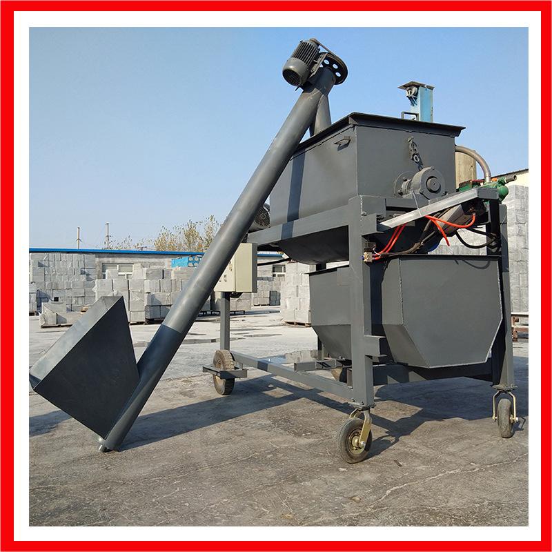 工地专用自动计量泡沫混凝土搅拌机 稀料绝不漏浆卧式搅拌机