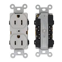 厂家直销美式双联插座面板 15A插座 工业面板插座电源墙壁插座