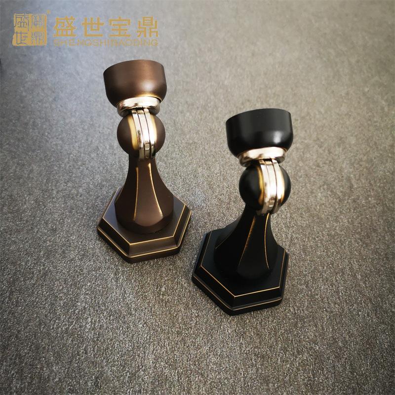 厂家直销家具适用门吸MX-118圆底小型半圆黑棕色吸门器铜锁