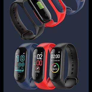 M4 Smart Bracelet Cross-border Exercise Meter Smart Pedometer Bracelet Blood Pressure and Heart Rate Charger/Line Charger Factory Outlet