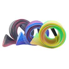 钓鱼竿竿套 伸缩编织套管,编织鱼竿套,鱼竿套编织网,鱼竿套