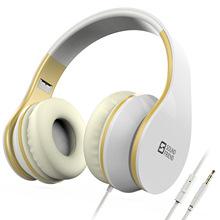 亚马逊外贸有线耳机手机笔记本音乐通话运动跑步耳机