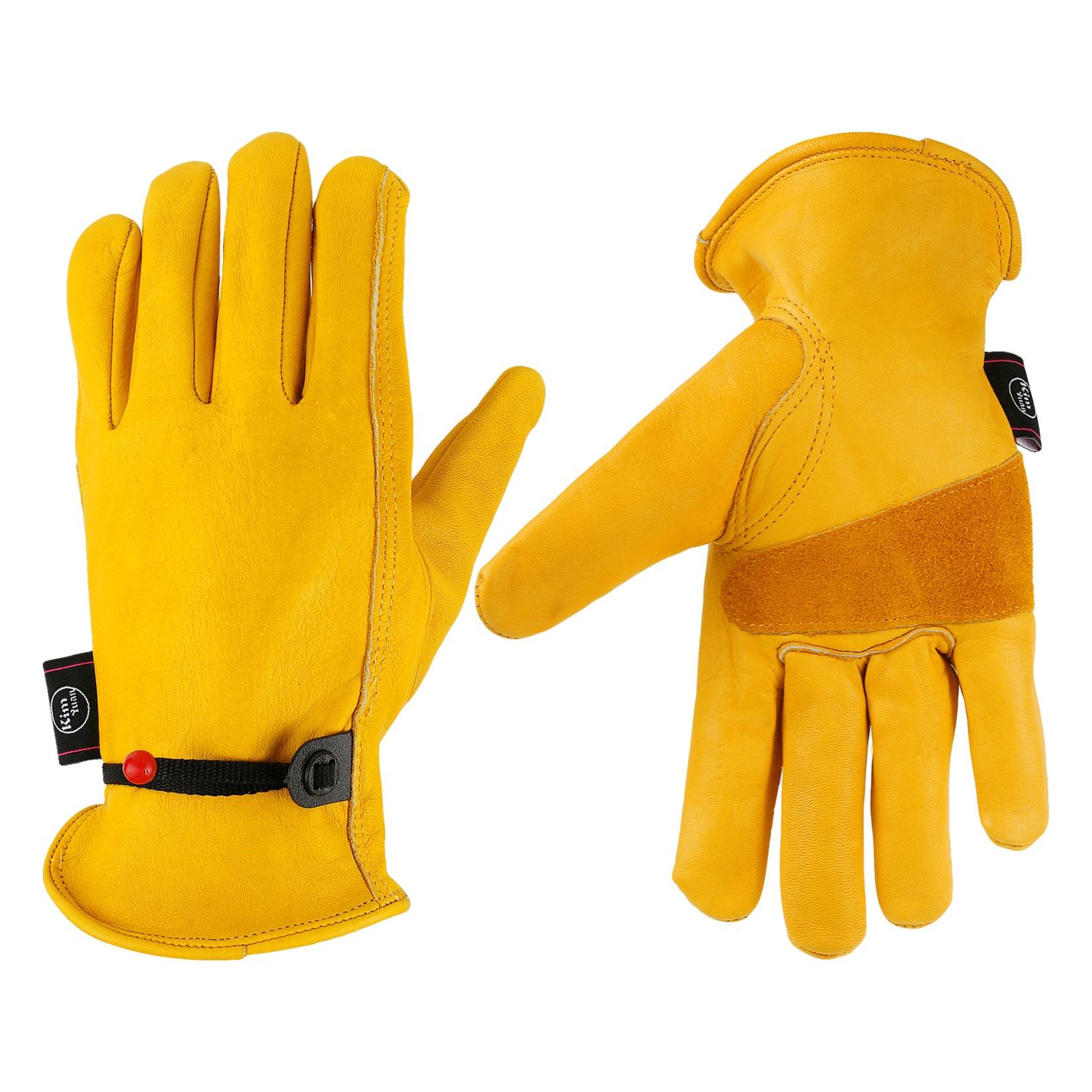 深圳货源批发牛皮电焊手套普通劳保手套焊接手套焊工专用防护手套