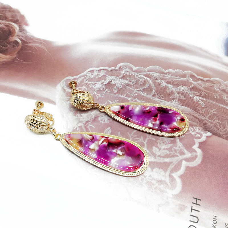 Alloy Fashion  earring  Brushed alloy ear clip  Fashion Jewelry NHOM1565Brushedalloyearclip