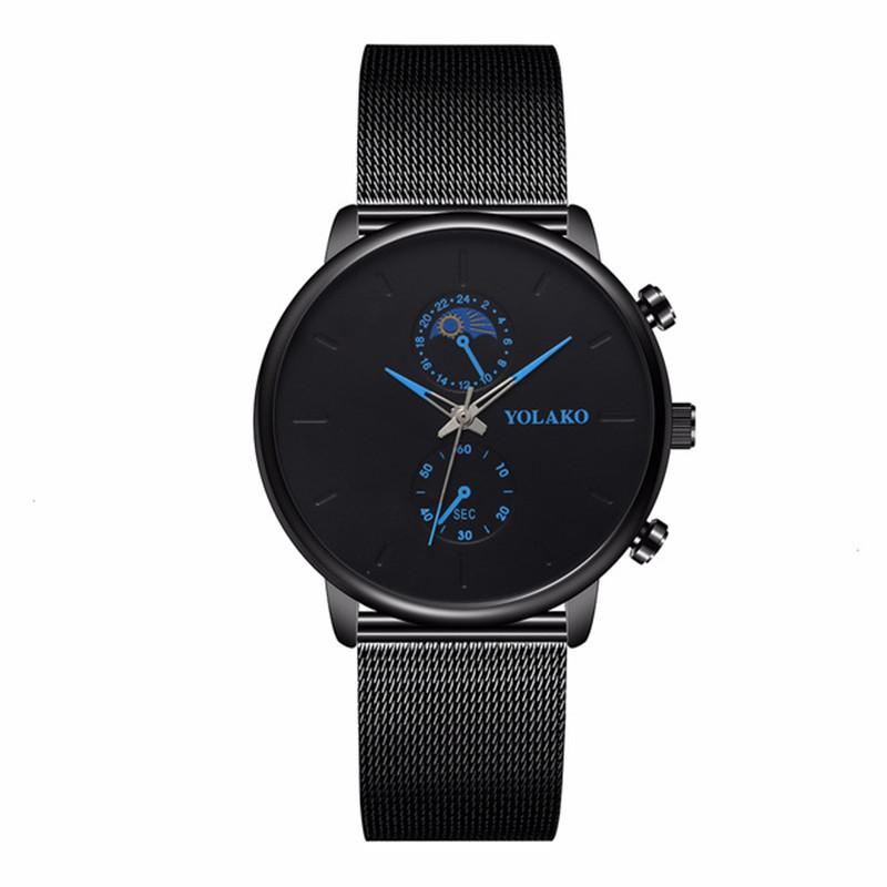 Fashion Watch Men's Alloy Mesh Band Watch Men's Watch Wholesale NHSY199327