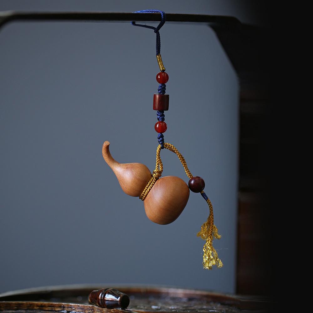 大德 印度老山檀香 木雕工艺品【葫芦】精工手把件 栩栩如生