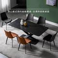 岩板餐桌现代简约长方形餐台北欧轻奢岩板台面餐桌小户型饭桌组合