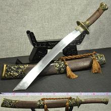 龙泉刀剑高碳钢龙虎宝刀一体手工战刀户外长刀冷兵器收藏未开刃