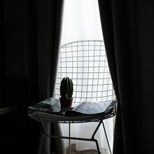 2019簡約輕奢遮光遮陽窗簾布現代新款北歐風格純色米飄窗窗紗簾