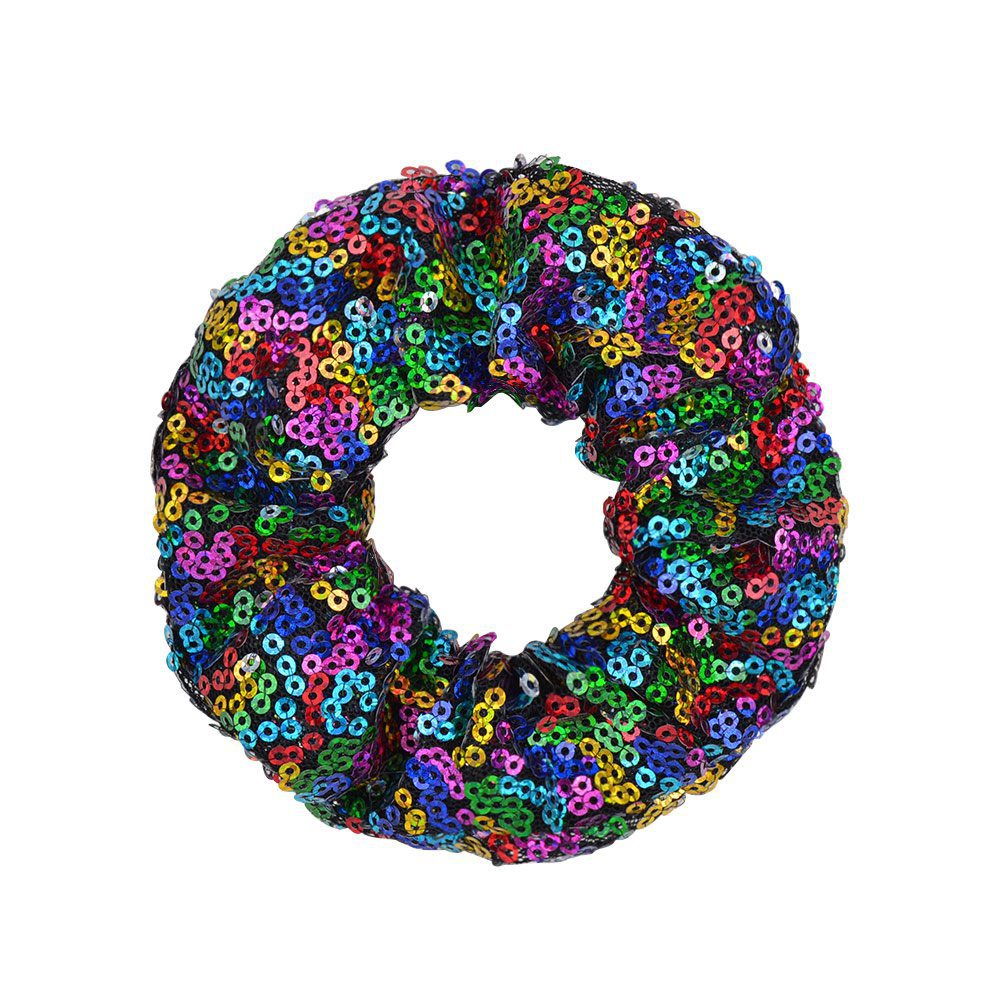 new colorful fish scale sequins hair scrunchies set NHMO306955