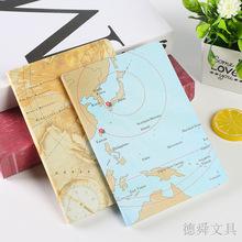 创意多色地图封面记事本 旅行日记本笔记本可定做logo图案 批发