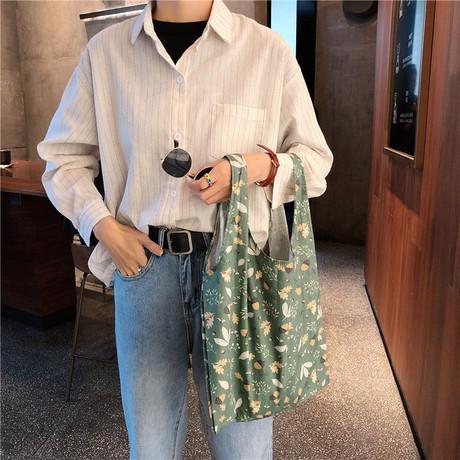 BX16 mùa hè mới nhỏ mua sắm túi nhỏ tươi Hàn Quốc túi vải cô gái dễ thương Túi Sen