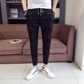 Youth spring fashion jeans, men's skinny casual leggings