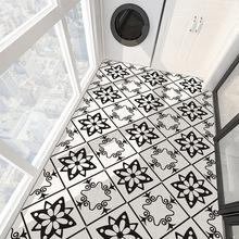 魅集 客廳廚房臥室地面改造貼防水耐磨PVC加厚地板貼自黏免膠貼紙