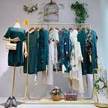 凱撒貝雷2020春夏真絲連衣裙 中老年女裝品牌折扣尾貨加盟方語美