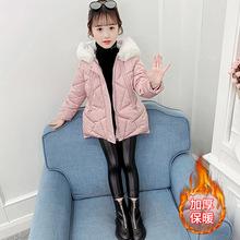 童装棉袄韩版女童冬季棉衣2019新款中大童小熊连帽加厚小女孩棉服