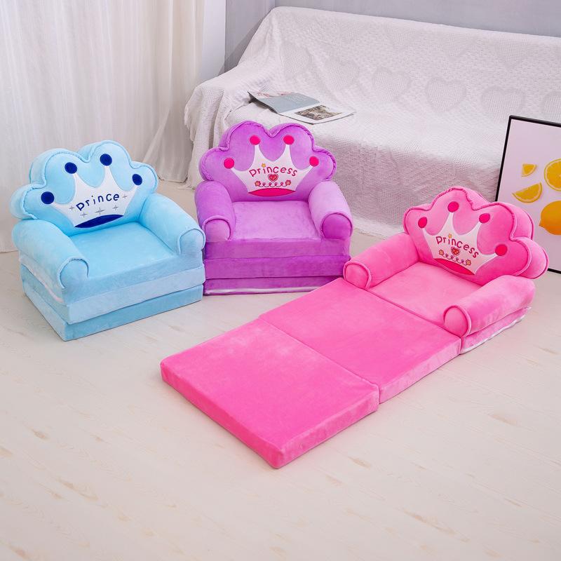儿童小沙发卡通公主女孩宝宝折叠座椅躺椅男孩单人懒人榻榻米批发