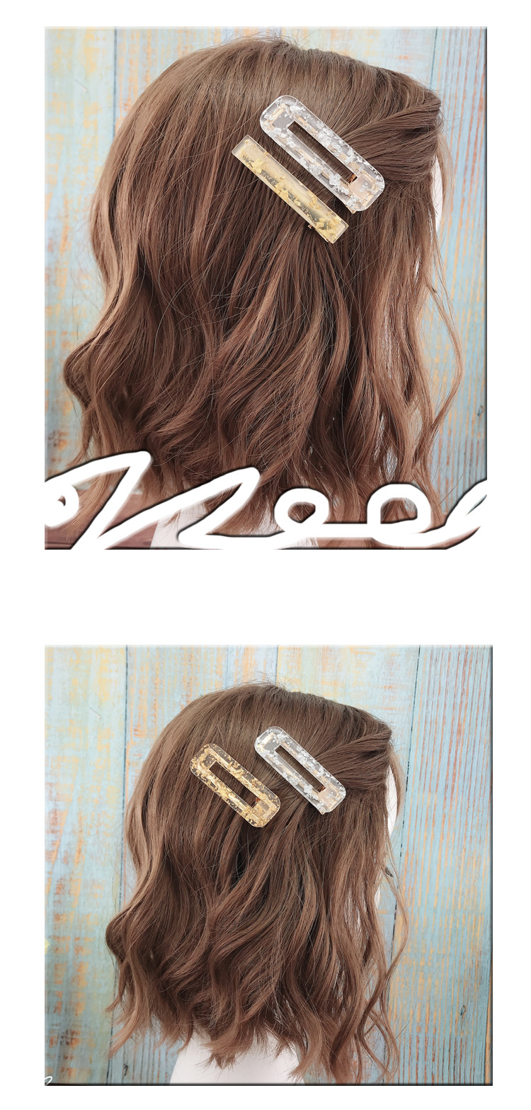 Girly Heart Simple Hairpin Hairpin Lady Wild Side Word Chuck Jewelry Wholesale NHDQ205923