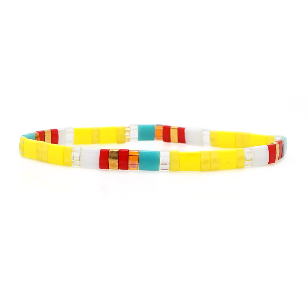 European and American fashion rice beads woven bracelet NHGW156843