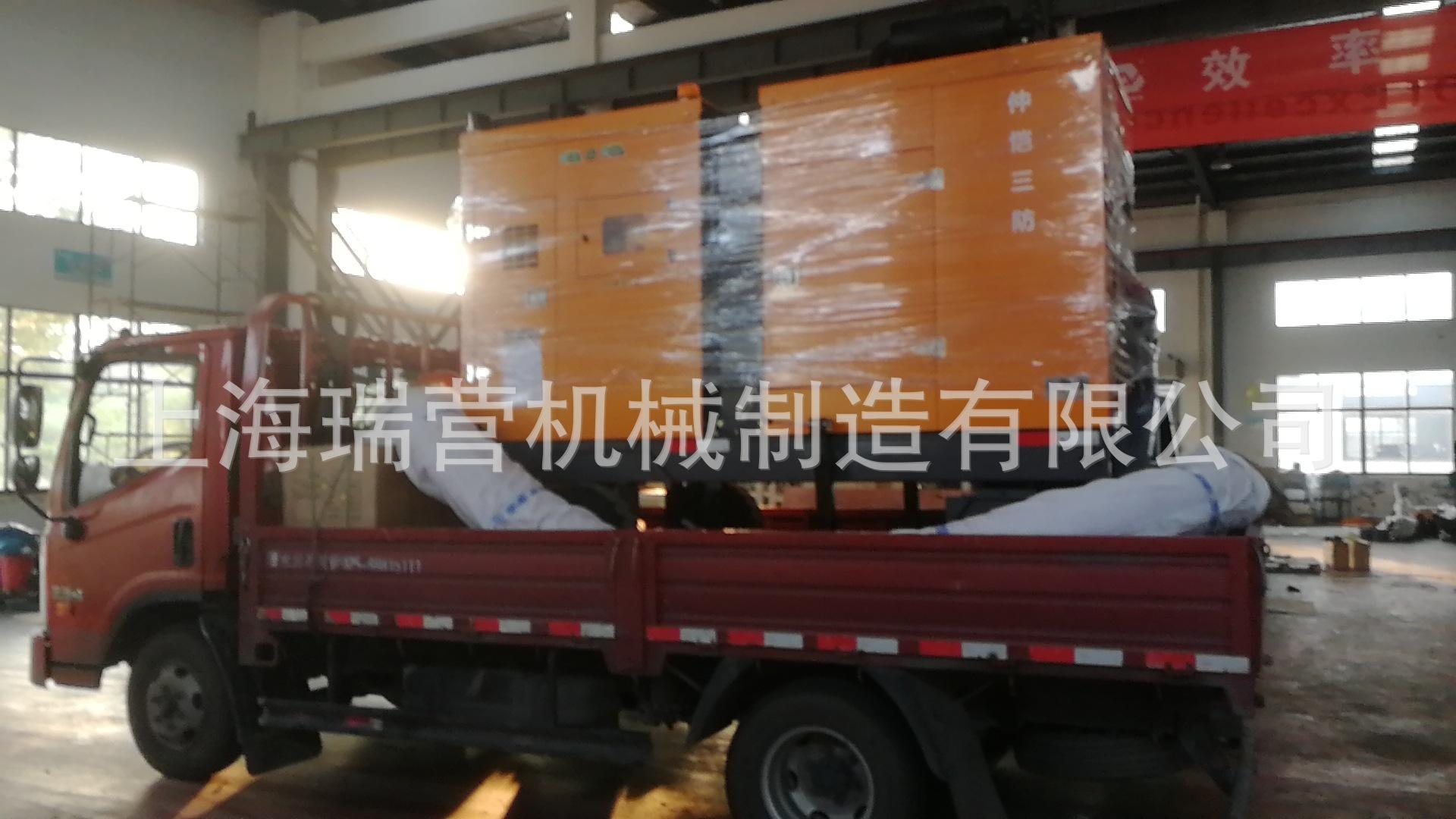 700方全封闭自吸式移动泵车装车