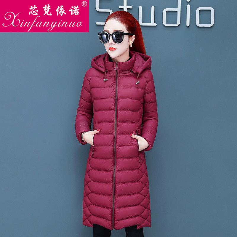 2019冬季新款中长款修身羽绒棉服气质女装外套双面穿潮流保暖棉衣