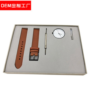 INSTRMNT factory custom simple style men's watch stainless steel leather high-end gift box watch