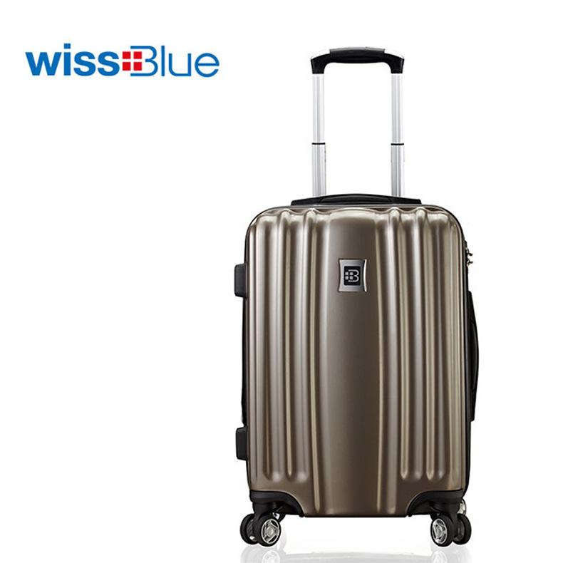 维仕蓝纯PC扩容拉杆箱登机箱行李箱旅行箱  现货