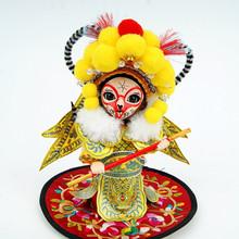 唐人坊绢人 Q版唐娃娃人偶 四大美女京剧人物穆桂英摆件 北京娟人