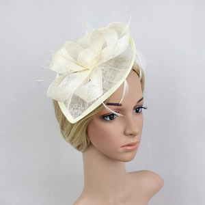 Party hats Fedoras hats for women Retro performance Party Prom girl headdress linen headdress ancient hair accessories small hat modeling