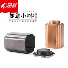 家用大号茶叶罐马口铁盒复古普洱茶通用中号密封罐磨砂1斤装茶罐
