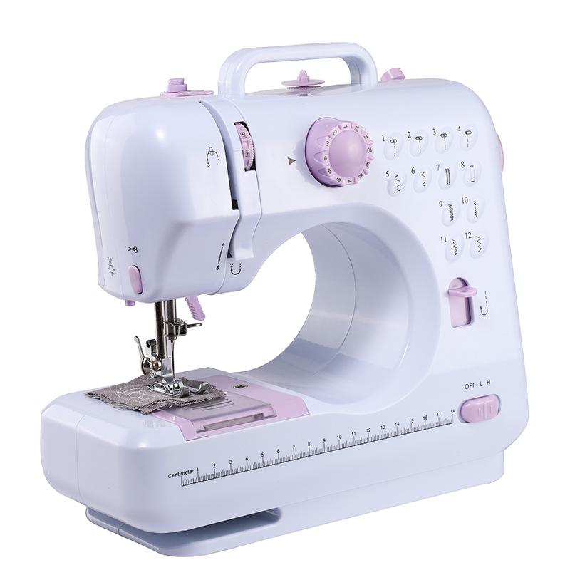 505多功能型缝纫机 家用迷你便携缝纫机美规欧规电源电动缝纫机