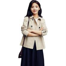 工厂2019秋季新款韩版外套女短款小个子女式风衣显瘦百搭长袖?#21487;? class=
