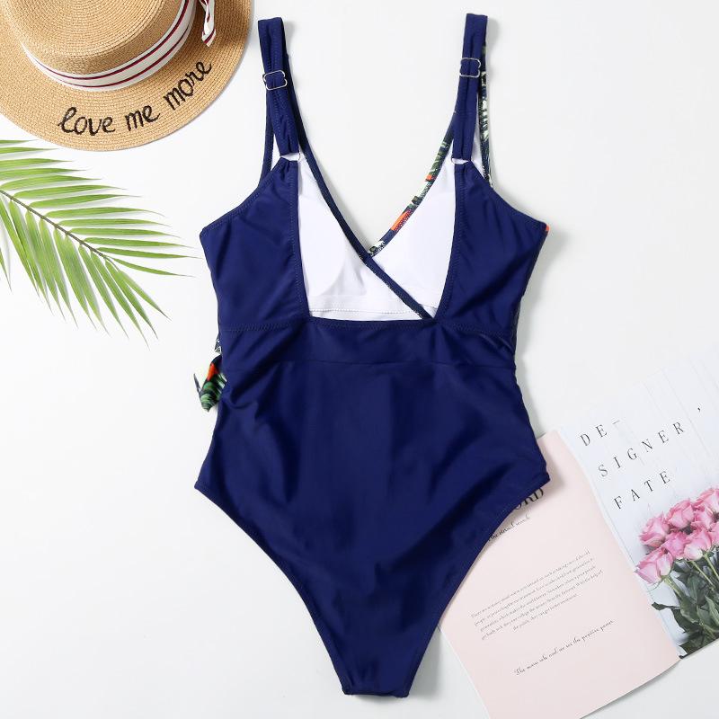 New European and American printed one-piece bikini Fashion swimwear wholesale NHHL199003