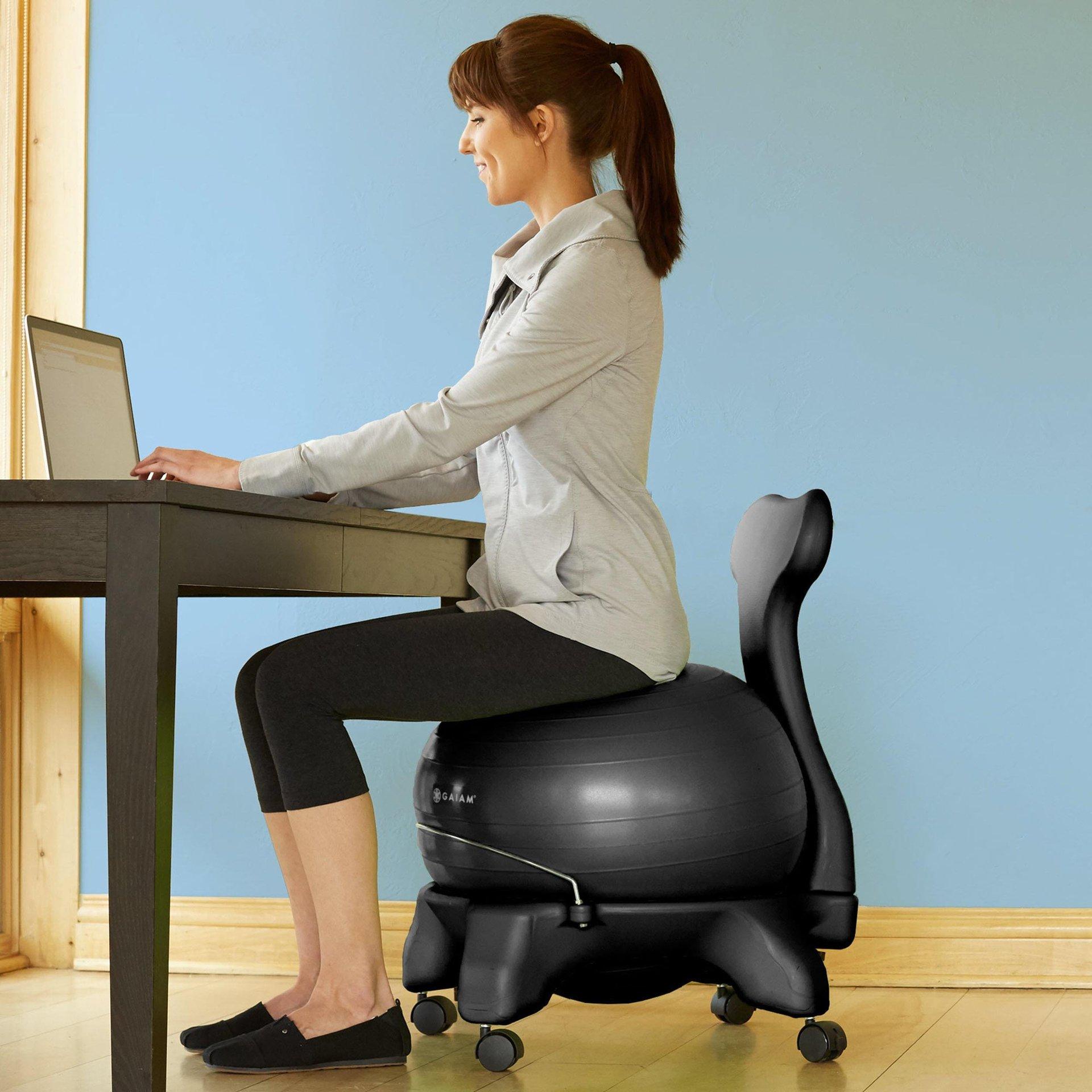 瑜伽球椅办公室健身可移动按摩椅家用座椅防爆加厚球凳孕产医用椅