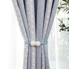 直销简约中式新品雪尼尔提花高遮光成品窗帘定制窗帘布棉麻面料