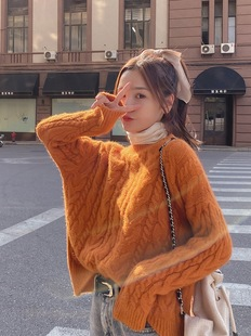Lazy style retro twist sweater women fall/winter loose 2020 new student pullover sweater outer wear sweater women