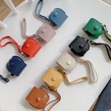 ?#35270;胊irpods蓝牙耳机套 蓝牙耳机收纳盒三件套打数据线收纳韩版包