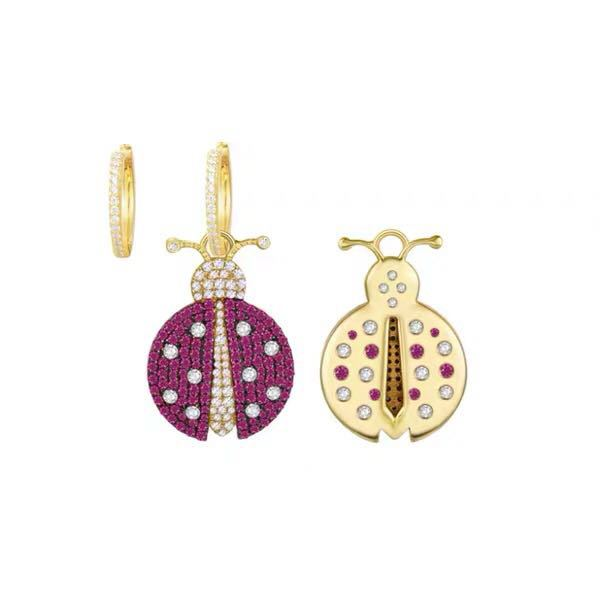 Copper Fashion Animal earring  (Photo Color)  Fine Jewelry NHLJ4263-Photo-Color