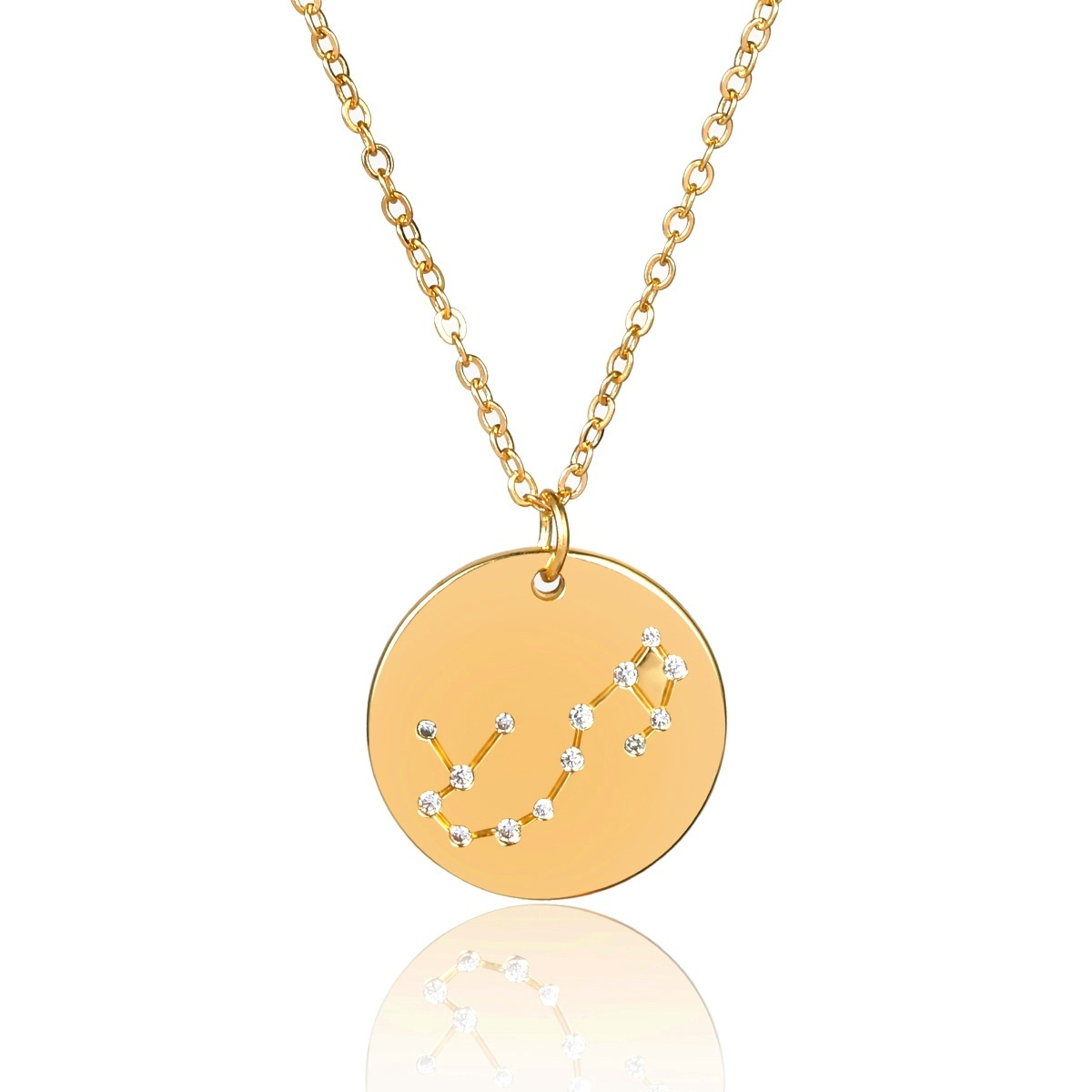 Alloy Simple Geometric necklace  (Aries, alloy, 2310)  Fashion Jewelry NHXR2739-Aries-alloy-2310