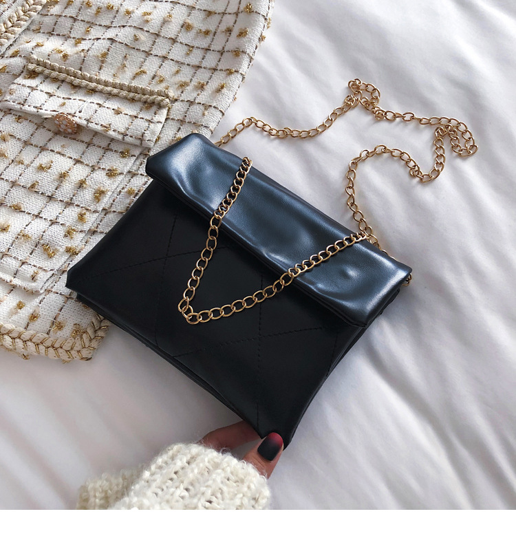 Bag female 2019 new wave Korean fashion wild Messenger bag retro Hong Kong style chic chain shoulder envelope bag NHXC176779